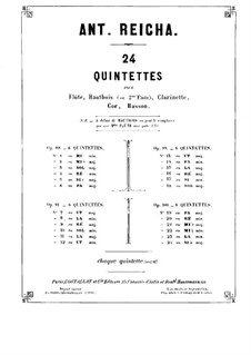 Woodwind Quintet in E Flat Major, Op.100 No.3: parte fagote by Anton Reicha