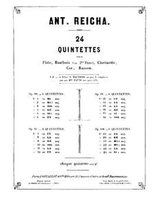 Woodwind Quintet in E Flat Major, Op.100 No.3: parte trompa by Anton Reicha