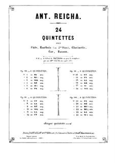Woodwind Quintet in E Flat Major, Op.100 No.3: parte clarinete by Anton Reicha
