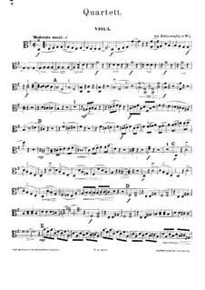 Quartet for Strings No.1 in G Major, Op.17 No.1: parte viola by Anton Rubinstein