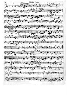 Six String Quartets: Violin I  part by Giuseppe Maria Cambini