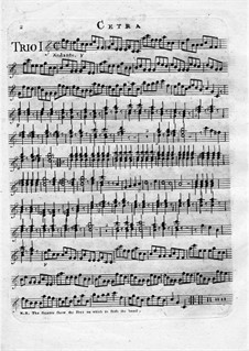 Six Trio for Two Violins and Zither: Cetra part by Giovanni Battista Canaletti