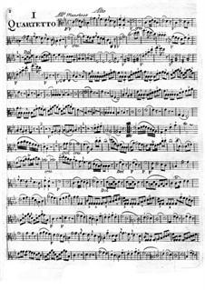 Six String Quartets: parte viola by Giuseppe Maria Cambini