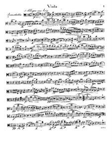 Quartet for Flute and Strings No.1 in D Minor, Op.30: parte viola by Raphael Dressler