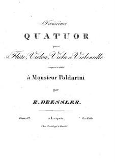 Quartet for Flute and Strings No.3 in C Major, Op.37: parte flauta by Raphael Dressler