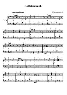No.2 Soldatenmarsch (Soldiers' March): Para Piano by Robert Schumann