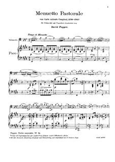 Menuetto Pastorale: para Violoncelo e piano by Carlo Antonio Campioni