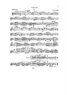 Twelve Miniatures, Op.20: No.8-12, for violin and piano – solo part by César Cui