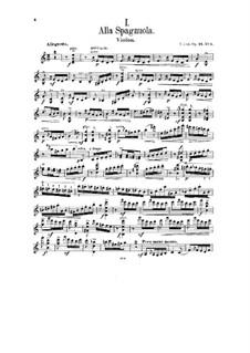 Two Pieces for Violin and Piano, Op.24: No.1 Alla Spagnuola – part by César Cui