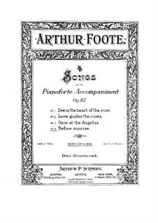Four Songs, Op.67: No.4 Before Sunrise by Arthur Foote