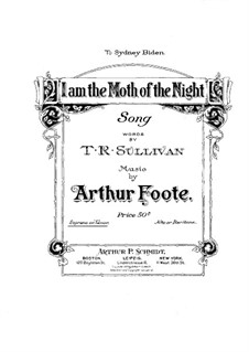 I am the Moth of the Night: I am the Moth of the Night by Arthur Foote