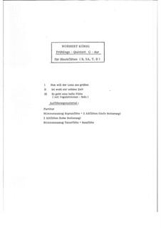 Frühlings - Quintett G-dur für Blockflöten, Op.20: Frühlings - Quintett G-dur für Blockflöten by Norbert König