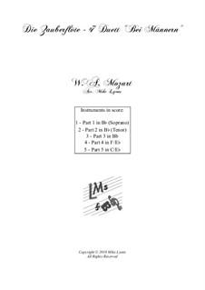 Bei Männern welche Liebe fühlen: Para quinteto de metais by Wolfgang Amadeus Mozart