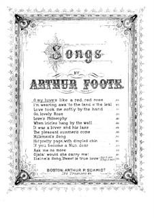 Five Songs, Op.13: No.1 O My Luve's Like a Red, Red Rose by Arthur Foote