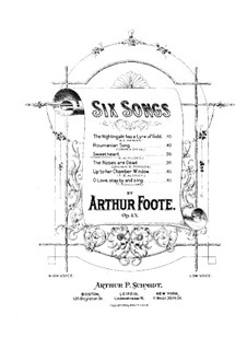 Six Songs, Op.43: No.3 Sweetheart by Arthur Foote