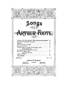 The Foxglove, Op.49 No.3: The Foxglove by Arthur Foote