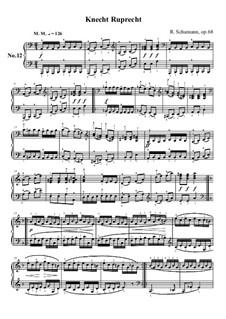 No.12 Knecht Ruprech (Saint Nicholas): Para Piano by Robert Schumann