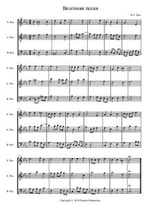 Canção de primavera: Canção de primavera by Johann Sebastian Bach