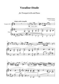 Vocalise-étude: Version for trumpet and piano by Gabriel Fauré