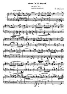 No.13 Mai, lieber Mai (May, Sweet May): No.13 Mai, lieber Mai (May, Sweet May) by Robert Schumann