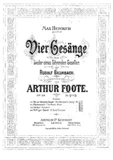 Four Songs, Op.39: quatro musicas by Arthur Foote