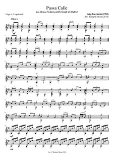 Musica notturna delle strade di Madrid (Night Music of the Streets of Madrid), Op.30: Passacaglia (notation version) by Luigi Boccherini