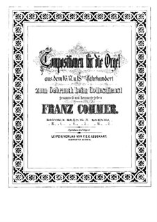 Compositions for Organ. Book IV: Compositions for Organ. Book IV by Franz Xaver Murschhauser