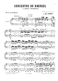 Concerto No.1 in B Flat Major, HWV 306: For two pianos four hands (or piano and organ) – part by Georg Friedrich Händel