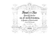 Concerto Grosso No.2 in F Major, HWV 320: para piano de quadro mãos by Georg Friedrich Händel