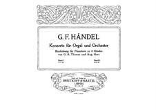 Complete set, HWV 289-294: versão para piano de quatro mãos by Georg Friedrich Händel