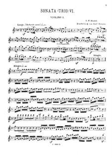 Trio Sonata in F Major, HWV 401 Op.5 No.6: violino parte I by Georg Friedrich Händel