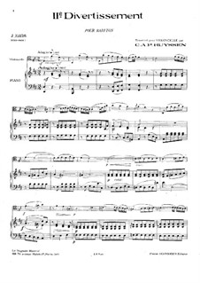 Two Divertissements: No.2. Version for cello and piano, Hob.XI/113 by Joseph Haydn