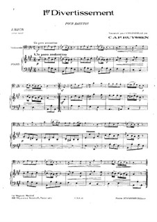 Two Divertissements: No.1. Version for cello and piano, Hob.XI/38 by Joseph Haydn