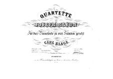 String Quartet No.42 in C Major, Hob.III/57 Op.54 No.2: versão para piano de quatro mãos by Joseph Haydn