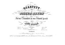 String Quartet No.39 in F Sharp Minor, Hob.III/47 Op.50 No.4: versão para piano de quatro mãos by Joseph Haydn