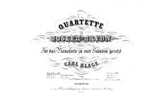 String Quartet No.64 in D Major, Hob.III/79 Op.76 No.5: versão para piano de quatro mãos by Joseph Haydn