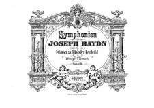 Symphonies (Collection): Volume III. Version for piano four hands by Joseph Haydn