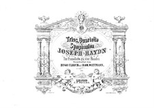 Piano Trios (Collection), Hob.XV: No.5-8. Version for piano four hands by Joseph Haydn