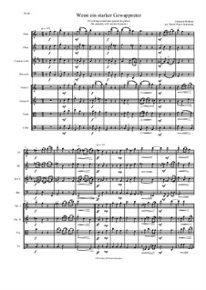 Fest- und Gedenksprüche, Op.109: No.2 If a strong armed man guards his palace, for wind quartet and string quartet (lower basses) by Johannes Brahms
