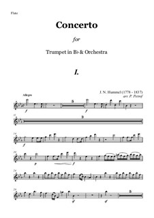 Concerto for Trumpet (Bb) and Orchestra in Eb: partes by Johann Nepomuk Hummel