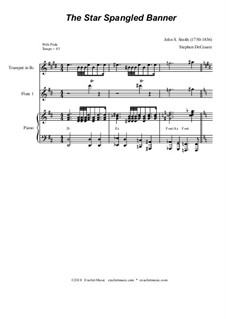 The Star Spangled Banner (National Anthem of The United States): For flute choir by John Stafford Smith