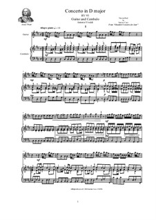 Concerto for Lute (or Mandolin) and Strings in D Major, RV 93: Version for guitar and cembalo (or piano) by Antonio Vivaldi