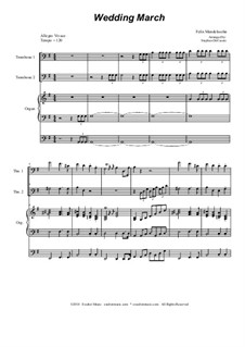 Wedding March: Trombone duet by Felix Mendelssohn-Bartholdy