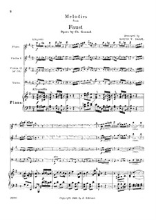 Faust: Selected Melodies, for flute, strings and piano by Charles Gounod