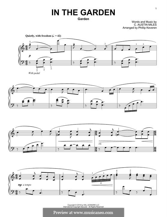 In the Garden: For piano (Phillip Keveren) by C. Austin Miles