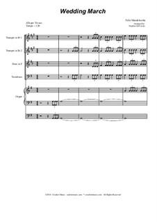 Wedding March: para quarteto de bronze by Felix Mendelssohn-Bartholdy