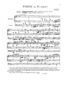 Fugue in F Minor and Fugue in A Flat Major: Fugue in F Minor and Fugue in A Flat Major by Josef Seeger, Karel Blažej Kopřiva