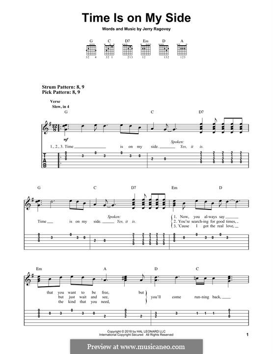 Time is on My Side (The Rolling Stones): Para guitarra com guia by Jerry Ragovoy