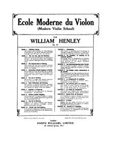 Modern Violin School, Op.51: Book IX by William Ernest Henley