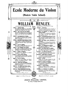 Modern Violin School, Op.51: Book X by William Ernest Henley